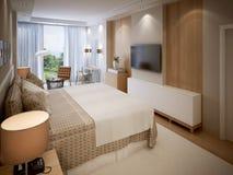 Progettazione alta tecnologia della camera da letto Immagine Stock
