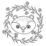 Progettazione animale del fumetto del castoro Fotografia Stock