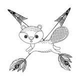 Progettazione animale del fumetto del castoro Fotografia Stock Libera da Diritti