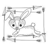 Progettazione animale del fumetto del coniglio Fotografia Stock Libera da Diritti