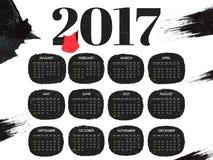 Progettazione annuale del calendario per 2017 Fotografie Stock