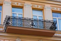 Progettazione antica del balcone Fotografie Stock Libere da Diritti