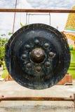 Progettazione antica di musica del cerchio del gong immagini stock