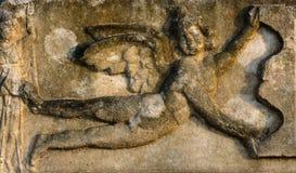 Progettazione antica di sollievo in Afrodisia Immagini Stock Libere da Diritti