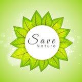 Progettazione appiccicosa per la natura di risparmi Immagine Stock