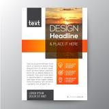 Progettazione arancio del modello dell'opuscolo di affari illustrazione di stock
