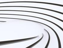Progettazione architettonica moderna dell'estratto 3D Immagine Stock