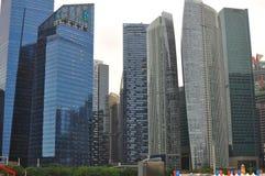 Progettazione architettonica moderna in grattacielo di Singapore del finanziario e del distretto aziendale Immagini Stock Libere da Diritti