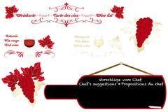 Progettazione artistica calligrafica del vino Fotografie Stock Libere da Diritti