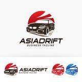 Progettazione asiatica di logo della deriva Fotografia Stock