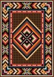 Progettazione asiatica nel telaio per tappeto. Fotografie Stock Libere da Diritti