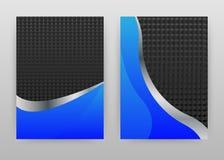 Progettazione astratta blu e nera del fondo di struttura per il rapporto annuale, opuscolo, aletta di filatoio, manifesto Vettore illustrazione di stock