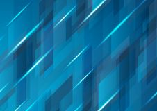 Progettazione astratta blu scuro del modello di vettore di ciao-tecnologia Fotografie Stock