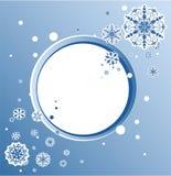 Progettazione astratta con i fiocchi di neve e spazio per testo royalty illustrazione gratis