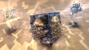 Progettazione astratta cubica del fondo Fotografie Stock Libere da Diritti