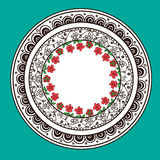 Progettazione astratta decorativa disegnata a mano della mandala Immagine Stock