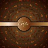 Progettazione astratta del caffè illustrazione di stock