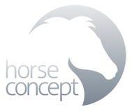 Progettazione astratta del cerchio del cavallo illustrazione di stock