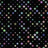 progettazione astratta del fondo del motivo a stelle Immagine Stock