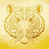 Progettazione astratta del fronte della tigre royalty illustrazione gratis