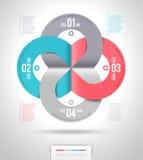 Progettazione astratta del modello di infographics Fotografie Stock