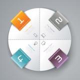 Progettazione astratta del modello di infographics Fotografie Stock Libere da Diritti