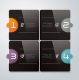 Progettazione astratta del modello di infographics Immagini Stock