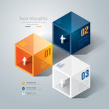 Progettazione astratta del modello di infographics. Immagine Stock