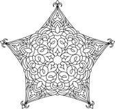 Progettazione astratta del pizzo del nero di vettore nella mono linea stile - five-fing royalty illustrazione gratis