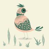 Progettazione astratta dell'illustrazione dell'uccello Immagini Stock