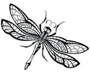 Progettazione astratta della libellula royalty illustrazione gratis