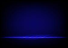 Progettazione astratta della linea blu su blackground blu Fotografia Stock