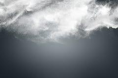 Progettazione astratta della nuvola bianca della polvere fotografie stock libere da diritti