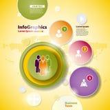 Progettazione astratta di affari con i cerchi di carta Immagini Stock