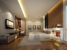 Progettazione astratta di schizzo della camera da letto interna Fotografia Stock