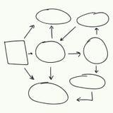 Progettazione astratta di vettore del diagramma di flusso Fotografie Stock