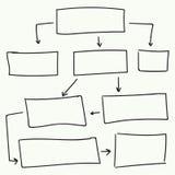 Progettazione astratta di vettore del diagramma di flusso Immagine Stock Libera da Diritti