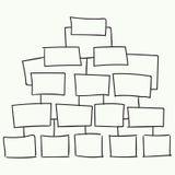 Progettazione astratta di vettore del diagramma di flusso Fotografie Stock Libere da Diritti