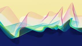 Progettazione astratta di vettore - onde della fiamma illustrazione di stock