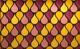 Progettazione astratta nei toni gialli e rossi Fotografia Stock Libera da Diritti