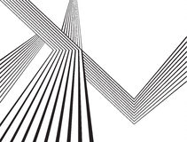 Progettazione astratta ottica della banda mobious in bianco e nero dell'onda Immagini Stock