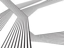 Progettazione astratta ottica della banda mobious in bianco e nero dell'onda illustrazione di stock