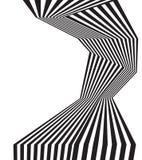 Progettazione astratta ottica della banda mobious in bianco e nero dell'onda royalty illustrazione gratis