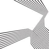 Progettazione astratta ottica della banda mobious in bianco e nero dell'onda Fotografia Stock Libera da Diritti