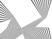 Progettazione astratta ottica della banda mobious in bianco e nero dell'onda Immagine Stock Libera da Diritti