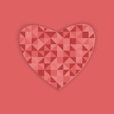 Progettazione astratta per il San Valentino Fotografia Stock Libera da Diritti