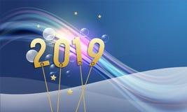 Progettazione astratta per la cartolina d'auguri al nuovo anno royalty illustrazione gratis