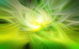 Progettazione astratta a spirale verde Fotografia Stock