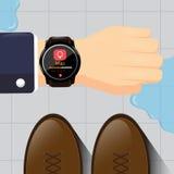Progettazione astuta dell'orologio Fotografia Stock