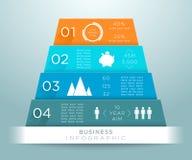 Progettazione B di numeri della piramide di Infographic 3d Immagini Stock Libere da Diritti